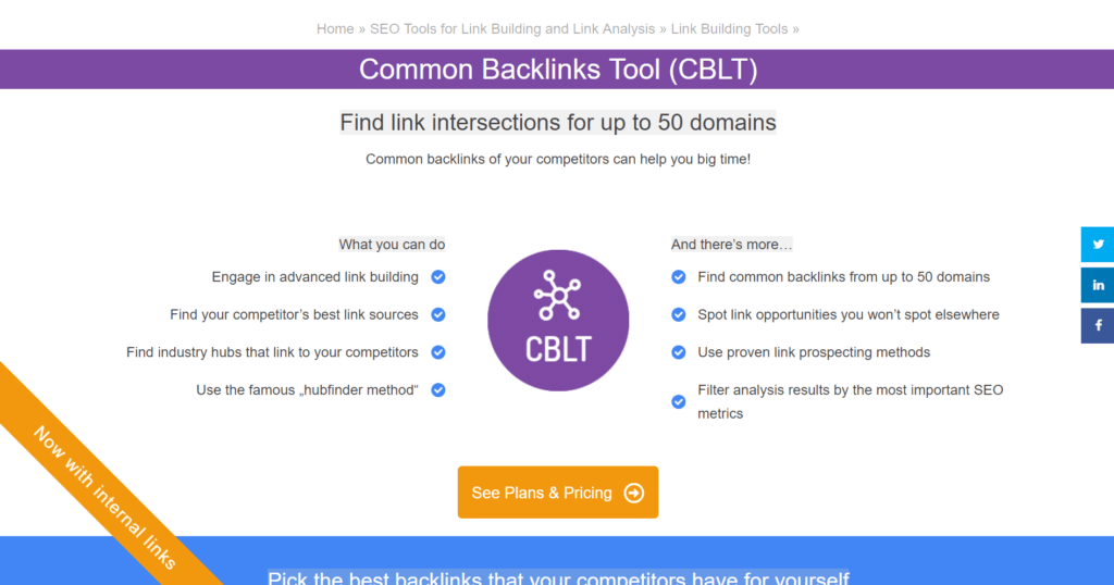 common backlinks tool